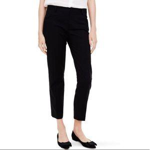 Club Monaco Ali Crop Pants Black Textured Trouser